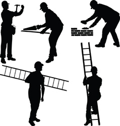 Various construction workers vector image