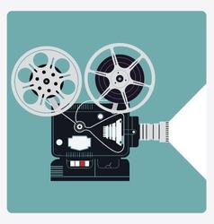 Vintage retro film projector icon vector