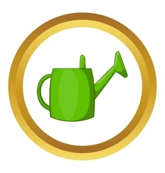 Watering can for garden icon vector