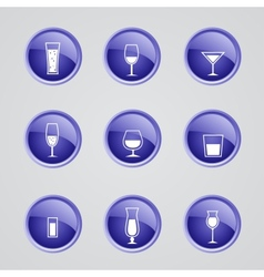 Alcohol icons vector