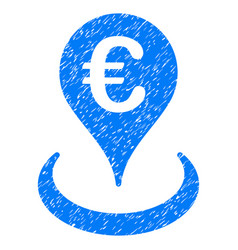 euro location grunge icon vector image