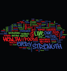 Live for good health text background word cloud vector
