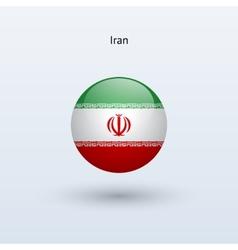 Iran round flag vector image