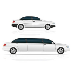 Car sedan and limousine vector