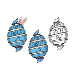 Spiral ribbon easter egg vector