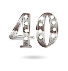 40 years anniversary celebration design vector