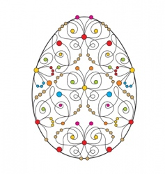 Easter egg with butterfly vector image