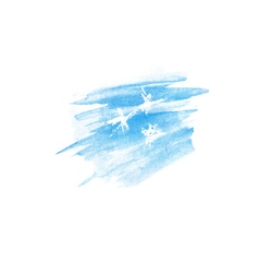 Watercolor stain with stars vector