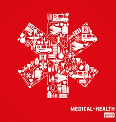 Medical cross vector