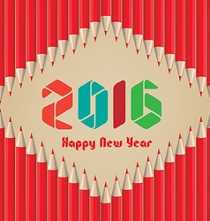 Happy new year 2016 background pencils vector