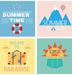 Summer time recreation banner vector