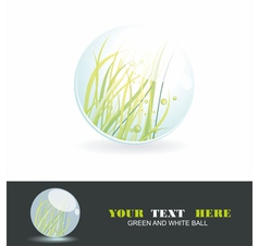 Sphere with grass inside shiny ball Eco symbol vector image
