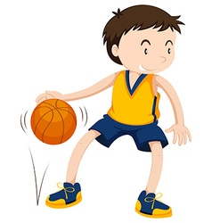 Male athlete playing basketball vector