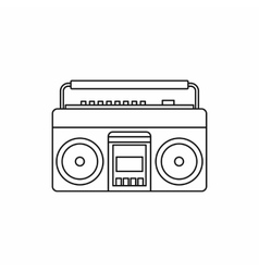 Classic boombox icon outline style vector