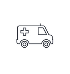 ambulance medical car thin line icon linear vector image vector image