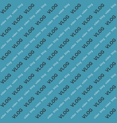 background video blog vlog word text vector image vector image