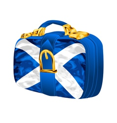 Bag with scottish flag vector