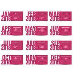 calendar for year 2018 vector image