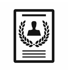 Certificate of the best employee icon vector