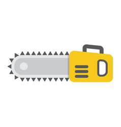 Chainsaw flat icon build and repair electric saw vector