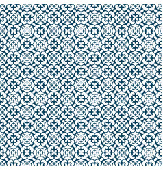 Cyan abstract damask pattern background vector