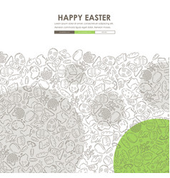 easter doodle website template design vector image