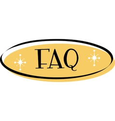 FAQ web button vector image