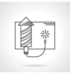 Firework black flat line icon vector image