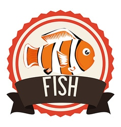 Fish icon design vector image vector image