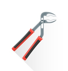 Flat water pump pliers icon vector
