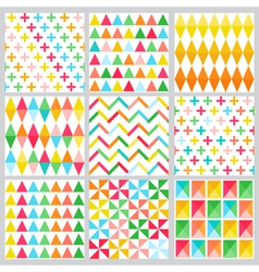 Geometric Background Collection vector image vector image