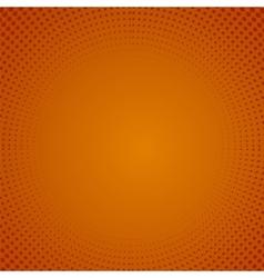 Halftone Pattern Dots on Orange Background vector image
