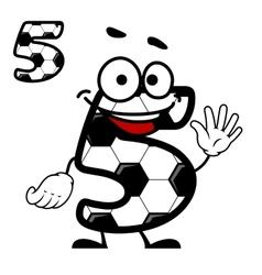 Happy cartoon number 5 character vector