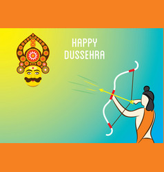 Happy dussehra banner design vector
