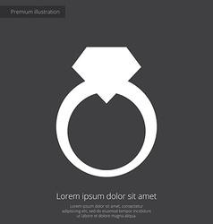 Jewelery ring premium icon white on dark backgroun vector