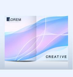 modern template for bi fold brochure vector image