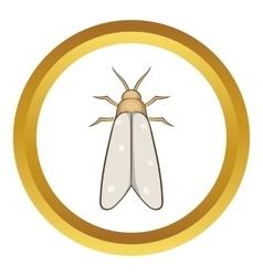 Moth icon vector