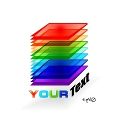 Multicolor abstract logo vector image vector image