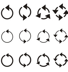 Rotating circle arrows vector image vector image