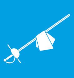 saber icon white vector image