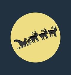 Santa claus sleigh deer vector