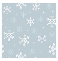 Seamless pattern snowflakes blue vector image vector image