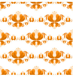 Seamless pattern with flowers russian gzhel style vector