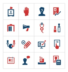 Set color icons of elections vector