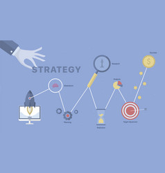 strategy process background vector image