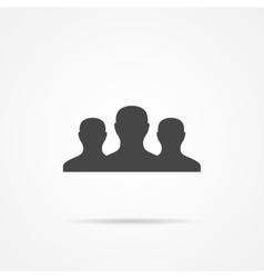 Team flat icon on the grey background vector image vector image