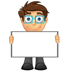 Business man blank sign 4 vector