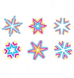 Star shapes vector