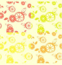 Four wallpaper citrus seamless pattern print vector