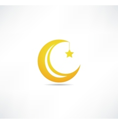 Moon and star icon vector image